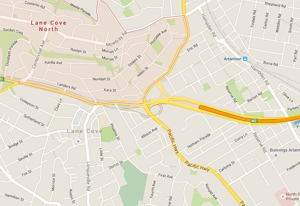 8 Lane Cove Property Map